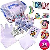 imoli Tie Dye Kit - 18 Lebendige Farben Textilfarben, Permanente einstufige Tie Dye Art Set, Ideal für Mode-Heimwerker(Wiederverwendbare Oberflächenabdeckung eingeschlossen)