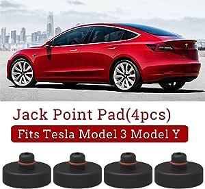 Model 3 Wagenheber Gummiauflage Jack Point Pad Adapter Für Zum Schutz Batterie Chassis Farbe Für Model 3 Model Y 4 Stücke Auto