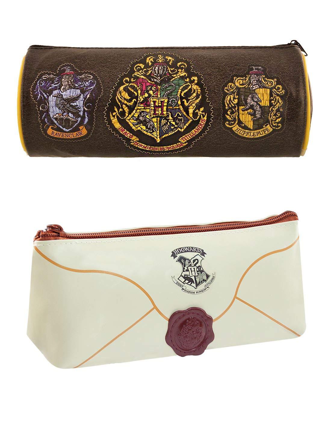 Vanilla Underground Harry Potter Hogwarts House Crests Letter Estuches de lápices Escuela Estacionario