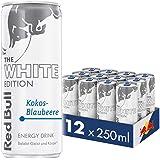 Red Bull Energy Drink Kokos-Blaubeere Dosen Getränke White Edition 12er Palette, EINWEG (12 x 250 ml)