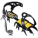 AGPTEK Ramponi da Ghiaccio a 19 Denti, Ice Tacchetti Donna e Uomo Resistente, Spikes Neve Ramponi portabile con Ottimo Grip,