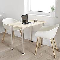 60x40 | Esszimmertisch - Esstisch - Tisch mit Chrombeinen - Küchentisch - Bürotisch | AHORN