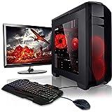"""Megaport Komplett PC Gaming PC Set Ryzen 3 2200G 4X 3.5 GHz • 22"""" Monitor • Tastatur • Maus • 8GB DDR4 2400 • 1000GB Festplatte • Vega 8 • Windows 10 • DVD-Brenner"""