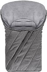 Universal Fußsack für Babyschale/Maxi-Cosi - Winterfußsack mit weichem Deluxe Thermo Fleece, warme Mumien Kapuze   Melange Grau