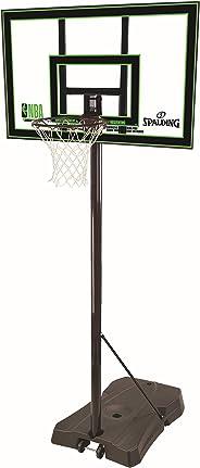 Spalding Unisex Child Highlight Acrylic Portable Basketball System - Black/Grey