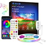 JESLED TV LED-achtergrondverlichting 3M, LED-stripverlichting met Bluetooth APP-bediening voor 40-60 inch tv, 16 miljoen kleu