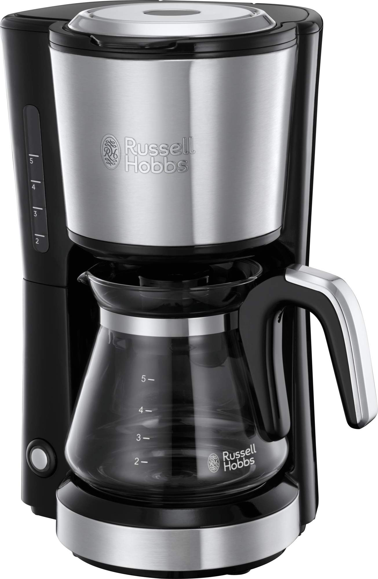 Russell Hobbs 24210 Compact Coffee Machine, Stainless Steel Filter Coffee Maker with 7 Minute Brew Time, 650 W