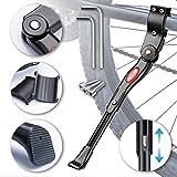 WATSABRO Bike Kickstand Adjustable Universal Bicycle Stand Support for Bicycle Mountain Bike Road Bike with Wheel Diameter 24