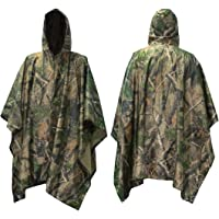 Mture Rain Poncho, Waterproof Raincoat Poncho for Outdoor Camping Military Cycling Traveling, 3 in 1 Multi-function…