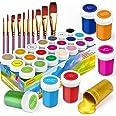 RATEL Peinture Acrylique, 31 Kit de Peinture Acrylique pour Artistes Comprenant 21 x 20 ML de Pigment Acrylique 10 pinceaux-