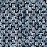 Teppichboden Auslegware | Sisal-Optik Schlinge | 400 cm Breite | hell-blau | Meterware, diverse Längen, Variante: 14,5 x 4m