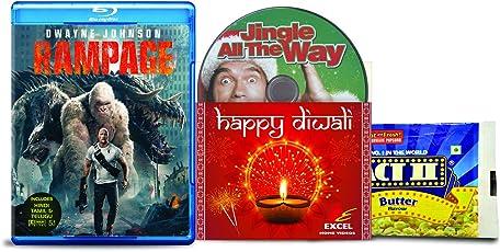 Rampage + Jingle All The Way - 2 English Movies (2 Blu-ray bundle offer)