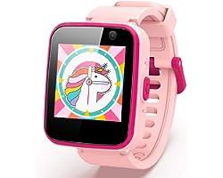 AGPTEK Smartwatch Bambini Ragazzi, Chiamate Telefono/SOS, Orologio Digitale Bambini SIM, Fotocamera, Lettore Musicale, 5 Gioc