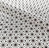 Stoff Baumwollstoff Meterware weiß schwarz Fuji Hanfblüte