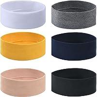 URAQT Fasce per Capelli Donna, 6 Pezzi Elastico Turbante Fascia, Tinta Unita Yoga Cotone Headband Sport per Adolescenti…