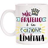 FUNNY CUP Tazza Mio Fratello é in Edizione Limitata. Disegno Divertente. Regalo per Fratello. Famiglia.
