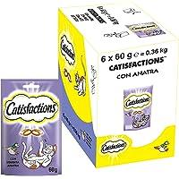 Catisfactions Snack per Gatto, Squisita Anatra, 6 Confezioni da 60 g