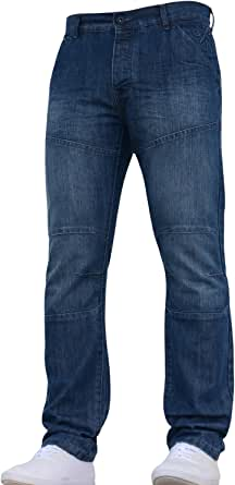 Crosshatch New Mens Designer Branded Straight Fit Jeans Pants Trousers