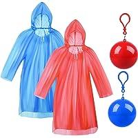 Vergissmeinnicht 2 Pieces Adult Raincoats Disposable Raincoat Ball Easy Carry Keyring Ball Raincoat Emergency Raincoats…