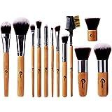 CHEREEKI Makeup Brushes [Maniglie di bambù] 12 Pennelli Set per Make up Pennelli, Base o Pennello da Trucco Professionale Ess