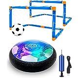 Maxesla Juguete Balón de Fútbol Flotante - Recargable Pelota Futbol con Protectores de Espuma Suave y Luces LED, Air Power So
