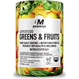 Bigmuscles Nutrition Superfood Greens & Fruits 40 Servings | Original Flavour | Organic Spirulina & Wheat Grass - Whole Food Vitamins from Fruit & Vegetable Extracts | Best Supplement to Boost Energy, Detox, Enhance Health | Vegan