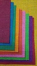 Jute Sheets/Burlap Sheets A4 Size 10 Colors Assorted