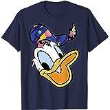 Disney Donald Duck Head Portrait Abstract Hat T-Shirt