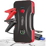 YABER Booster Batterie - 800A 12800mAh Démarrage de Voiture (Jusqu'à 6.5L Essence/5.0L Gazole) Portable Jump Starter avec Sor