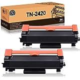 FITU WORK TN2420 TN2410 (con Chip) Cartuccia Toner Compatibile per Brother MFC-L2710DW MFC-L2710DN MFC-L2730DW MFC…
