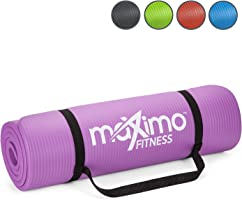 Maximo Exercise Mat NBR Fitness Mat - Multi Purpose - 183 x 60 x 1.2 centimetres - Yoga, Pilates, Sit-Ups, Stretching, Home, Gym - Perfect for Men and Women.