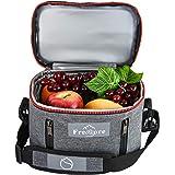 Freshore sac à lunch isolé fourre-tout boîte mince petits sacs pour les femmes(gris argenté)