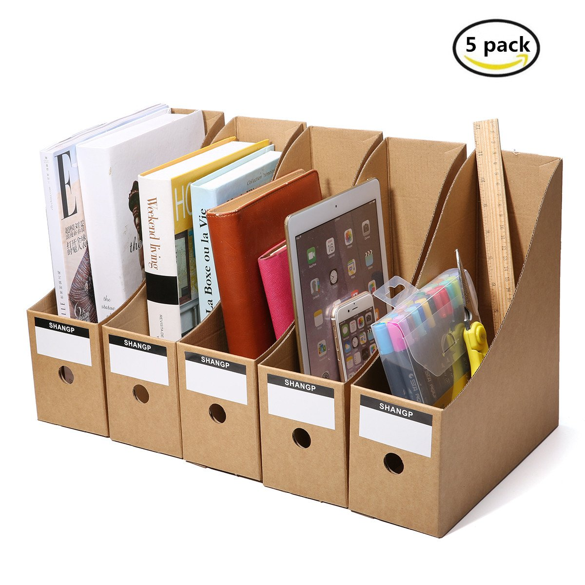 Cardboard Magazine Holder Caveen File Magazine Holder 41Pcs Pack Cardboard Magazine Rack 29