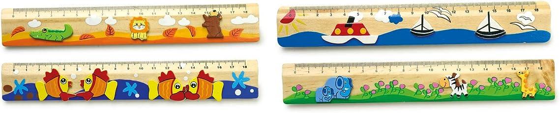 Small Foot by Legler 7978 Righelli, Legno, Multicolore, 20 x 3 x 0.5 cm