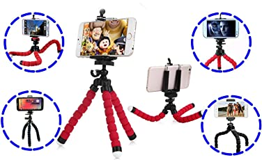Adjustable Flexible Mini Portable Tripod Stand with Universal Smartphone Clip Holder | mobile holder for tripod stand | mobile stand tripod | Cell Phone Holder | Flexible Long Arms Clip Mount | mobile stands for smart phones | car mobile holder | car mobile mount |