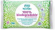 Mum & You Lingettes Humides 100% Biodégradables pour Bébe, paquet de 12, (672 lingettes au total). 98% D'eau, 0% de Plastique
