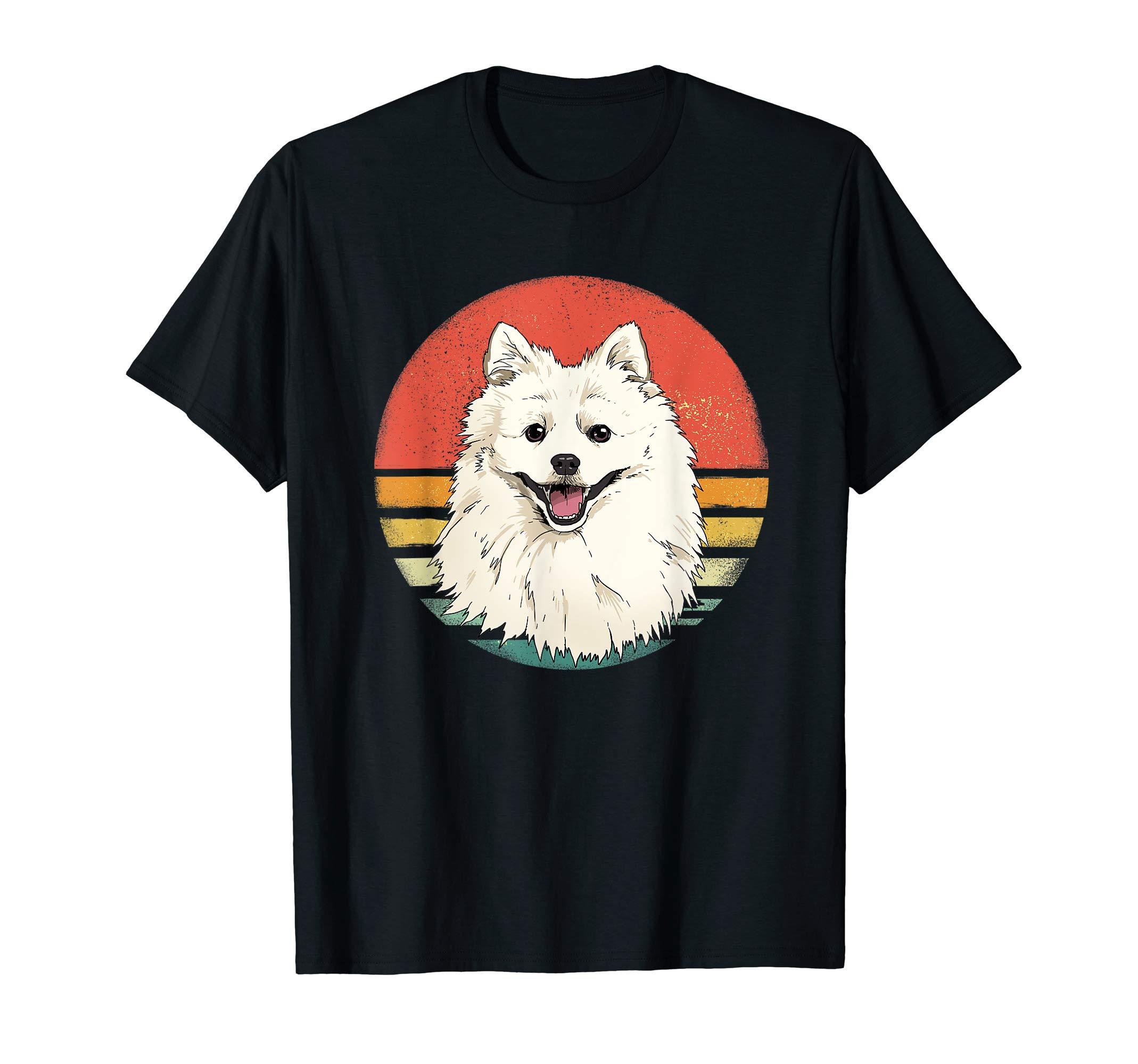 Retro Vintage American Eskimo Dog Breed Lover Gift T-Shirt