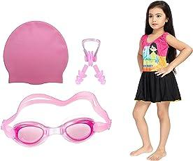 Goolden Girl Gilrs Swimming Kit (Pink_8-9 Years)