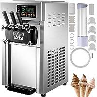 VEVOR Machine à Crème Glacée 1200 W Sorbetière Électrique Professionnelle Commerciale 18 L/h 2 Saveurs Uniques 1 Saveur…
