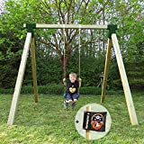 Einzelschaukel Basic Premium 1.1 Schaukel aus Holz 9x9 von Gartenpirat®
