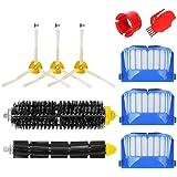 MTKD® Kit brosse pour Roomba série 600 - Kit de 10 pièces accessoires (Brosses Latérale, filtres, brosse de Cerda et etc…