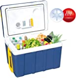 Xcase Kühlbox: Thermoelektrische XXL-Trolley-Kühl- & Wärmebox, 12/24 & 230V, 50 Liter (Thermoelektrische Kühlbox)