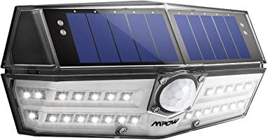 Mpow 30 LED Solar Lights, Brightness Equals to 46 LEDs from Other Brands, Wide Angle Design, A New Generation of Motion Sensor Security lights, Waterpoof Outdoor Lights