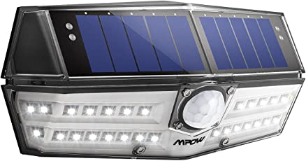 【Tipo Nuovo】Luce Solare Mpow 30 LED, IP67 Impermeabile, Luci Solari con Sensore di Movimento, Luce Solare Giardino, Super SunPower pannello solare, 1800mAh Lampada Solare da Esterni, per Giardino, Parete, Terrazzino, Cortile, Scale