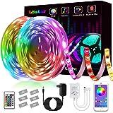 Tiras LED,L8star Luz de Tira LED Smart 5050 Control APP, Sync con Música Multicolor, Kit de Luces LED Funciona Luces Decorati