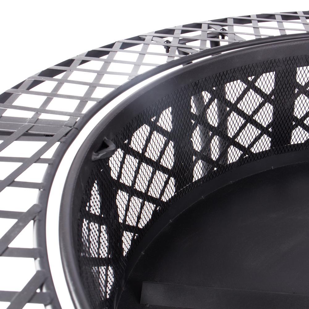 rustler lp 0234a feuerschale terrassenofen aus stahl mit abdeckung funkenflug und sch rhaken rs. Black Bedroom Furniture Sets. Home Design Ideas