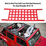 KKmoon Red Car Roof Top Soft Cover Rest Bed Hammock for Jeep Wrangler JK 07-19