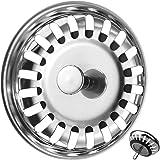 Filtre évier Cuisine, Bouchon d evier, Couvercle de filtre évier cuisine, Filtre à évier en acier inoxydable, Bouchon evier i