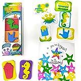 imagimake stamp art - diy kids art set - age 3 years and above - assorted set- Multi color