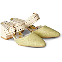 Joe Browns Womens Woven Mules with Studded Strap
